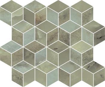 Декор мозаичный Джардини зеленый-17657