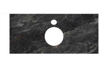 Спец.декоративное изделие для накладных раковин Риальто темный серый лаппатированный-9236