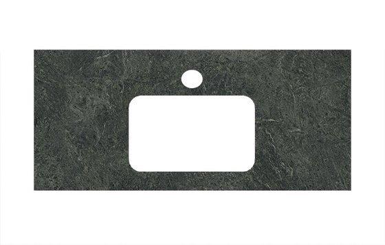 Спец.декоративное изделие для раковин, встраиваемых сверху Риальто зеленый темный - главное фото