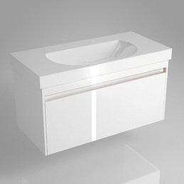 Тумба BUONGIORNO под умывальник подвесная 100 см европейский белый с 1 выдвижным ящиком, 46,2*100