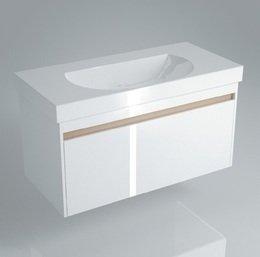 Тумба BUONGIORNO под умывальник подвесная 100 см  белый с 1 выдвижным ящиком + 1 внутренний ящик