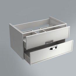 Тумба CANALETTO белая матовая 80см с 2 ящиками (подходит для раковин Buongiorno)