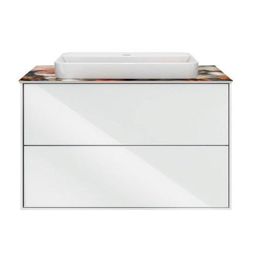 Тумба PLAZA Modern, подвесная 80 см, 2 выдвижных ящика, цв.белый - главное фото