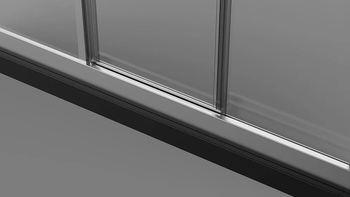 Душевая дверь раздвижная 1200х1950 стекло прозрачное 5 мм VN31-120-01-C5-19821