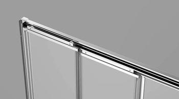 Душевая дверь раздвижная 1200х1950 стекло прозрачное 5 мм VN31-120-01-C5-19819